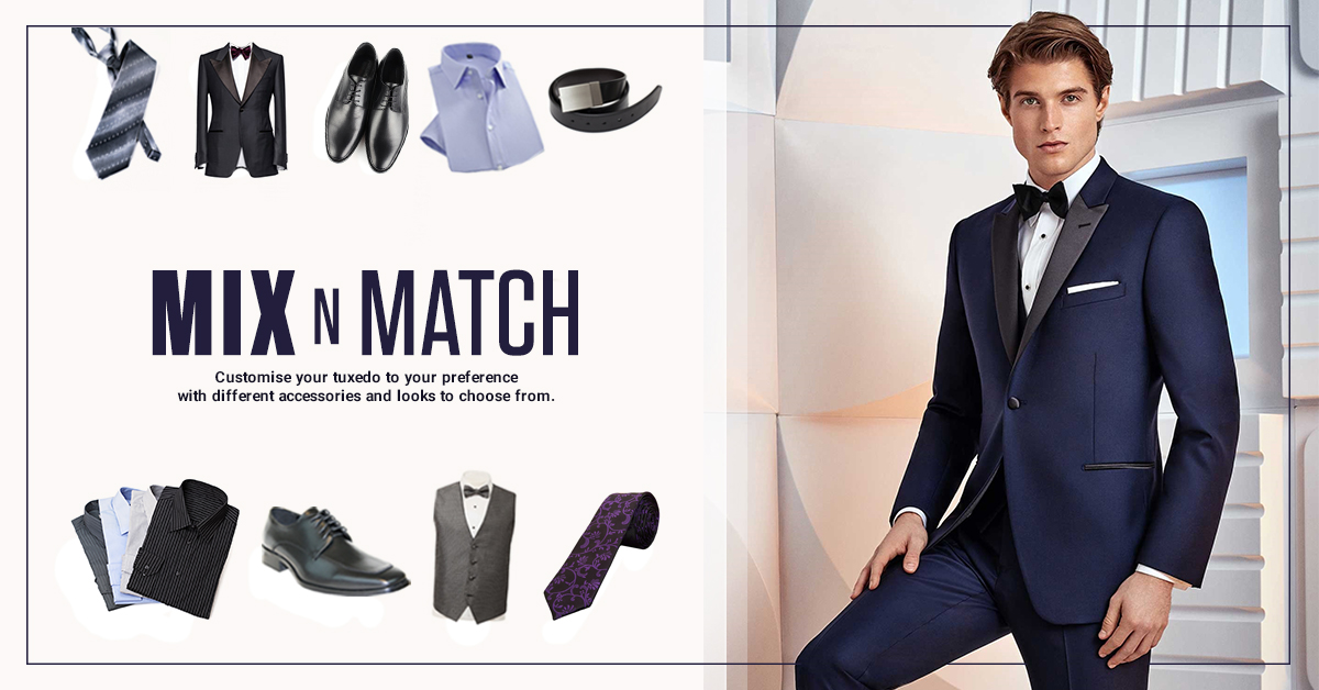 Get a Custom Look with a Mix n Match Tuxedo Rental Package!