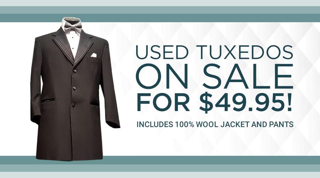 Used Tuxedos in Windsor for ONLY $49.95!