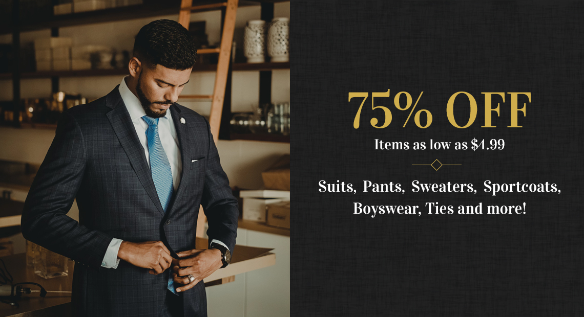 75% Off Select Merchandise at Monty Formal Wear